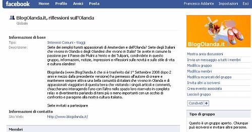 BlogOlanda.it su Facebook