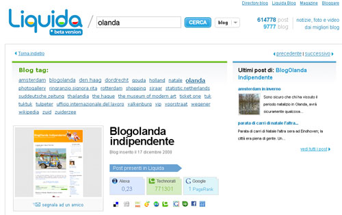 BlogOlanda.it recensito e archiviato dalla directory di http://www.liquida.it/